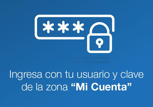 Ingresa con tu usuario y clave de la zona transaccional